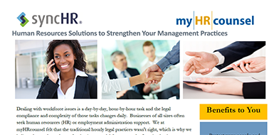 HR Legal Services Overview - SyncHR & myHRcounsel