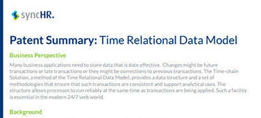 Patent Summary: Time Relational Data Model
